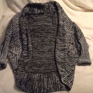 Black and white Dex knit sweater.
